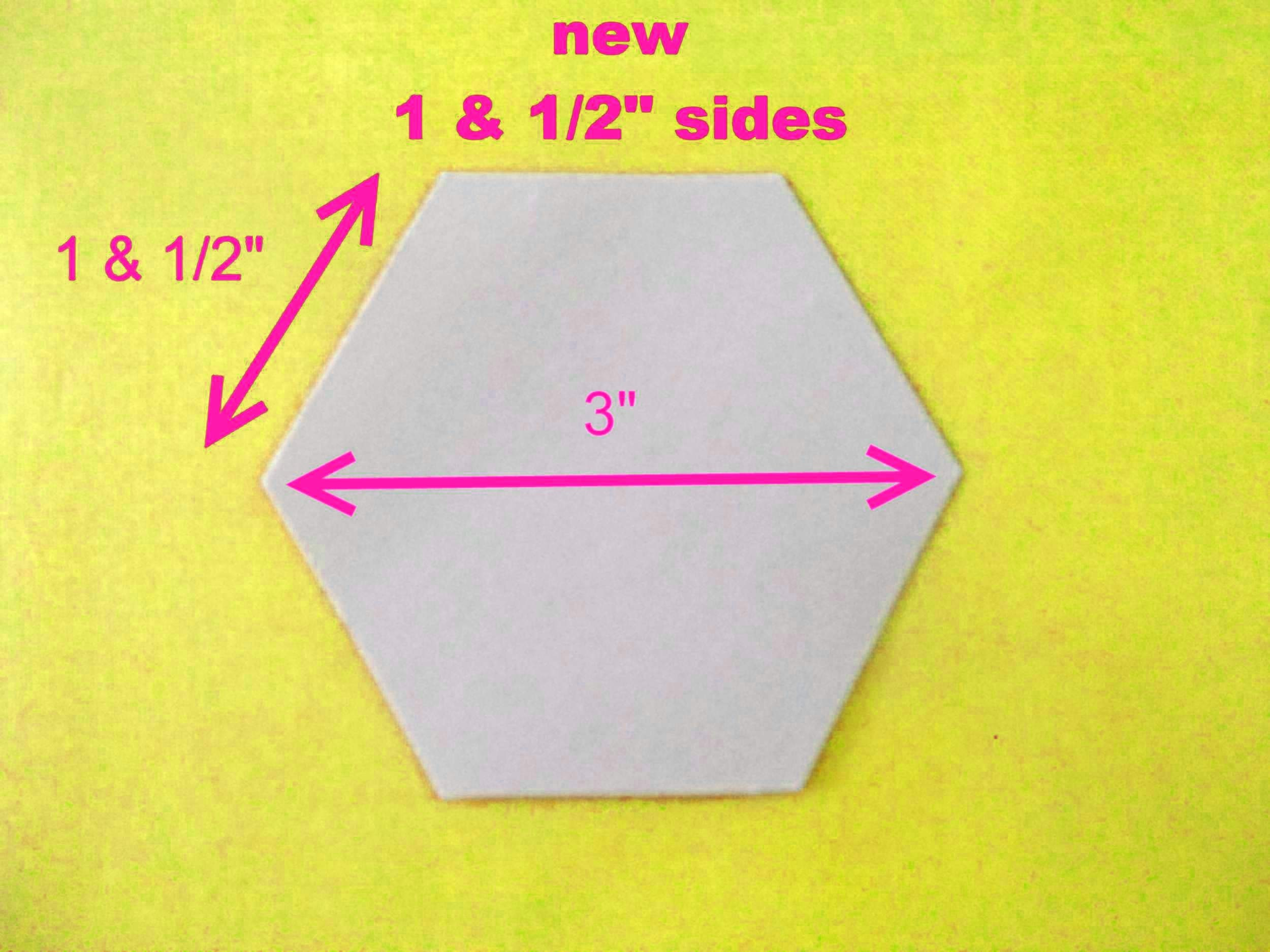 250 Paper Hexagons Templates 3 Inch Size