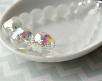 Bead Bracelet, Bubble Bracelet, Wedding Bracelet, Gift for Her, Frosted Glass Beads, Statement Bracelet, One of a Kind, Soap Bubbles