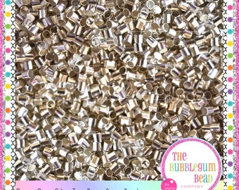 2mm CRIMP TUBE BEAD, Qty 100, Crimping Beads, Silver Crimp Beads, Crimp Tubes, Diy Jewelry Supplies, Bead Closures, The Bubblegum Bead Co.