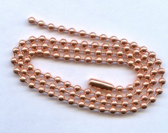 18 inch Copper Ball Chain Necklace