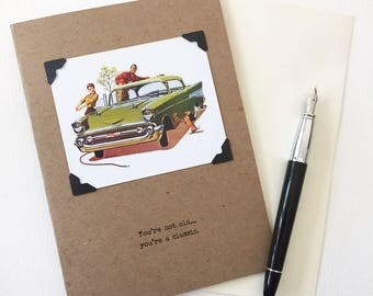 Baby Boomer Birthday Card You're Not Old You're a Classic