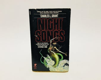 Vintage Horror Book Night Songs by Charles L. Grant 1984 Paperback