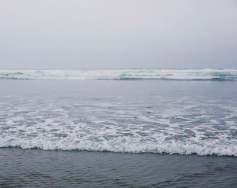 Softly Blue - Fine Art Photograph, Ocean, Beach, Sea, City, Oregon, Travel Photography, Wall Art, Room Decor
