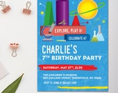 Explore Science Birthday Invitation, Children's Museum, Printable or Printed