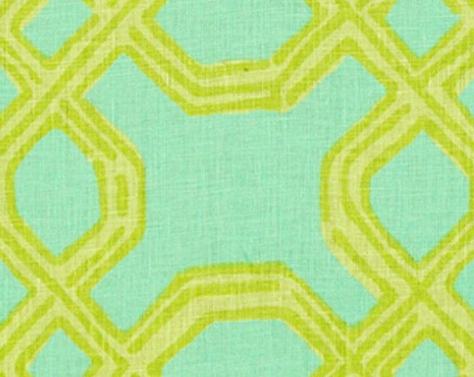 Lilly PulitzerWell Connected in Green/Aqua (on both sides) Designer Pillow Cover With or Without Self Welting - Square and Euro Sham Sizes