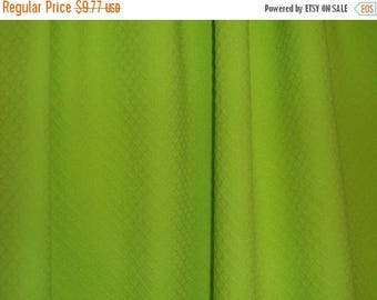 ON SALE SPECIAL--Apple Green Cotton  Stretch Pique Fabric--One Yard