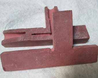 Minnesota Spotted Quarry Red Pipestone Pipe Blank Two Pieces Pipe Pre - Form