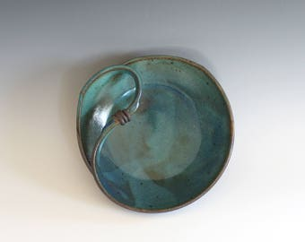 Modern Hostess Bowl, ceramics and pottery, handmade ceramic dish, ceramic bowl, ceramics by Kazem Arshi