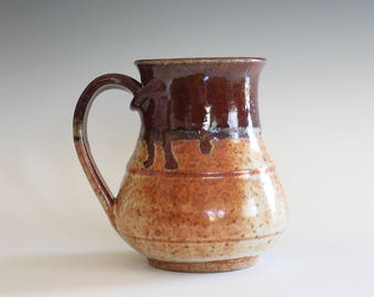 Coffee Mug Pottery, 14 oz, unique coffee mug, handmade ceramic cup, handthrown mug, stoneware mug, pottery mug, ceramics and pottery