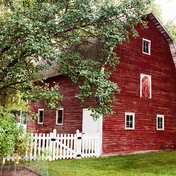 New! Landscape, Red Barn, In The Country,Nature Photography, Barn Print, Country Summer Art, Red Barn, Country Photography, Rustic Print