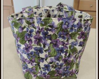 jar lunch bag, fabric lunch bag, glass lunch bag, zero waste lunch bag, mason jar bag, half pint jar bag, floral lunch bag, padded lunch bag
