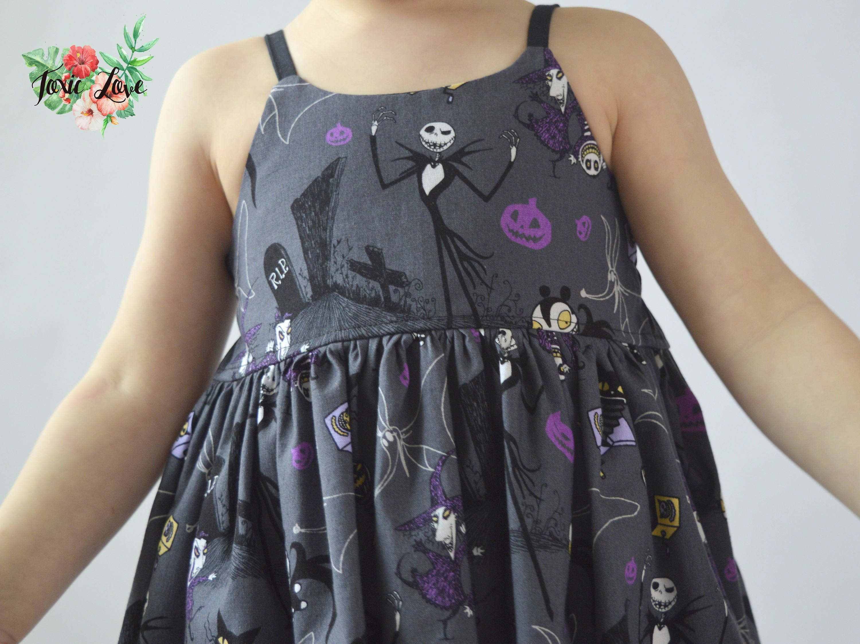 Gray Nightmare Before Christmas Shirt, Dress or Maxi (Baby and Girls ...