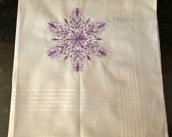 Purple Snowflake Handkerchief
