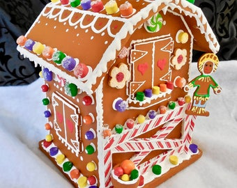 Faux Gingerbread Garden Shed