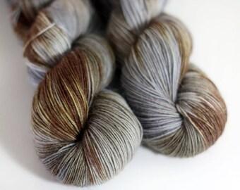 hand dyed sock yarn - WINTERWOOD - Everlasting Sock Yarn - Superwash Merino, Nylon and Mohair