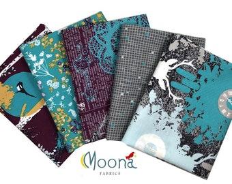Deer Woodland Decor, Rustic Deer Nursery, Fat Quarter Fabric Bundle Modern Farmhouse, INDELIBLE, Katarina Roccella, Cotton Quilt Fabric