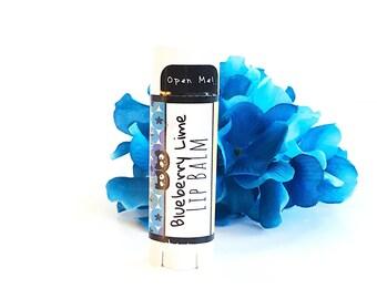 Blueberry Lime Natural Lip Balm- Organic Beeswax Lip Butter Natural Lip Balm
