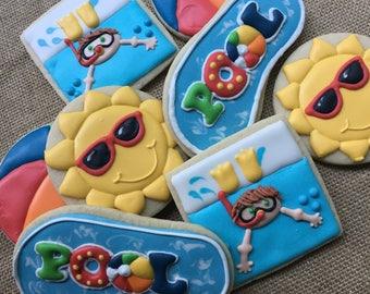 1 dozen pool party cookies