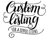 "Custom 2x2"" stamp for Aja"