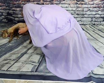 Light Purple Cloak with Hood and Clasp