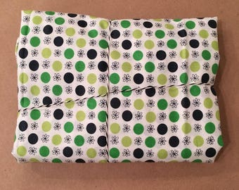 1 2/3 yards Flea Market Fancy Green Flower Dot by Denyse Schmidt