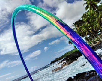 "5/8"" Urchin Melt Deco Taped Polypro Hula Hoop with Custom Diameter and Grip Options!"