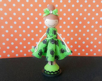 Halloween Miniature Wooden Clothespin Doll