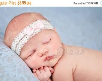 12% off Newborn Headbands  Baby Headband adult headband lace bow headband christening headband photo prop teen headband headband baby Baby b
