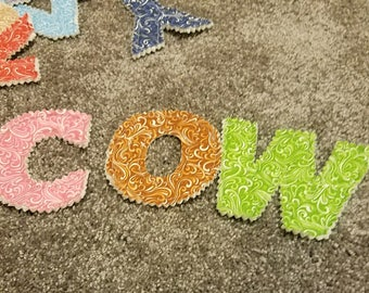 Fabric letters - assorted fabrics
