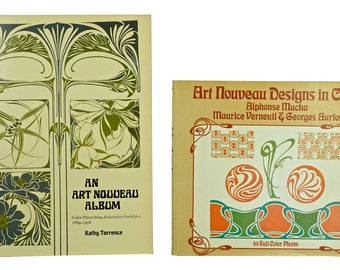 Lot 2 ART NOUVEAU DESIGN Books, Oversized Soft Cover, First Editions 1981 & 1974
