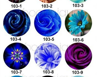 New Collection - 12mm/20mm/25mm Flower Handmade Photo Glass Cabochon CPC103