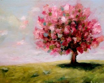 In the Pink, Petite Oil Painting