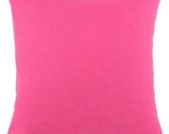 Pillow Covers Cushions solid bright  bright pink linen other colors available