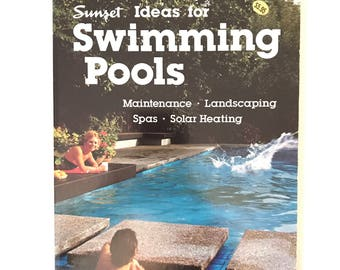 Vintage Modern Sunset Swimming Pools Book