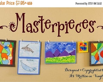 20% OFF Masterpieces -Vinyl Lettering decal wall  kids words  quotes graphics Home decor itswritteninvinyl