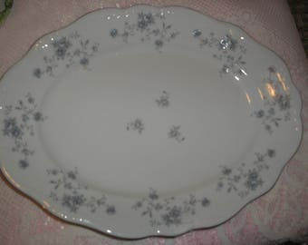 Johann Haviland Blue Garland Platter Bavaria Germany