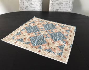 Quilted Table Topper / Patchwork Table Topper - C
