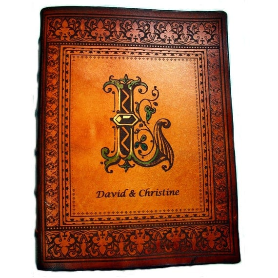 Handcrafted Leather Catholic, NIV, KJV or NIV Family Bible Customized with Last Name