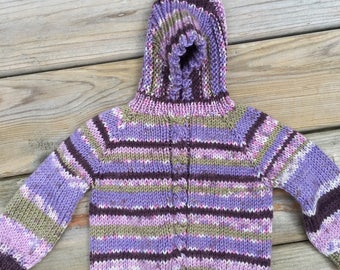 infant hooded back zipper sweater 6-12 month size