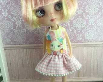 Blythe Drop Waist Dress - Usagi Bunny