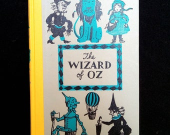 1955 The Wizard of Oz Vintage Book by Frank Baum Illustrations by Leonard Weisgard