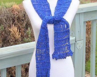 Womens Scarf, Blue Scarf, Long Blue Scarf, Fashion Scarf, Long Scarf, Lightweight Scarf, Royal Blue Scarf