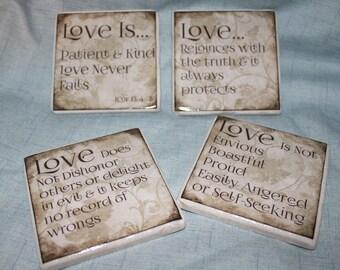 Scriptures, Tile Coasters, Kitchen Decor, Drink Coaster, Coffee Break, Coffee Decor, Coffee Table Decor, TV Drink Holder, Christian Cups