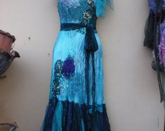 "20%OFF bridal shabby bohemian gypsy wedding formal satin party dress .x small to 32"" bust..."