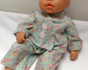 Dolls Clothes 14 - 15 inch (36 - 38 cm) Pyjamas To fit Corolle Mon Bebe Classique, My First Baby Annabell, Bitty Baby, Berengeur etc