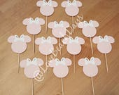 Minnie Mouse Cupcake Toppers, Custom Minnie Mouse Cupcake Toppers