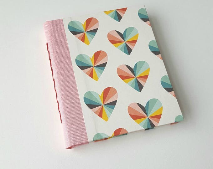 Rainbow Hearts Blank Book - Valentines Gift - Blank Book - Valentines Notebook - Journal - Sketchbook