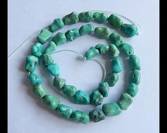 Nugget Turquoise Gemstone Loose Beads,1 Strand,40cm In the Lenght,11x9x7mm,30.1g(h0810)