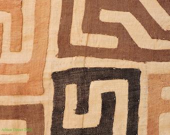 Kuba Raffia Textile Handwoven Congo African 9 Feet 107969