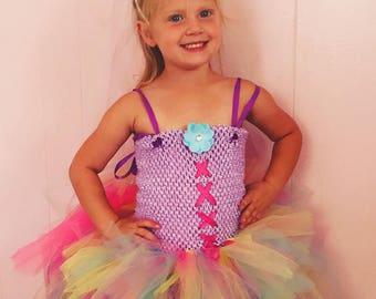 Rainbow Unicorn Tutu Dress-Rainbow-Unicorn-Costume-Halloween-Tutu Dress